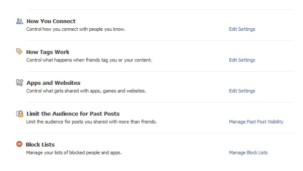 Facebook Privacy Settings - September 2011 - TheMarketingShop.ie