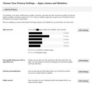 Facebook Privacy Apps Settings September 2011 The Marketing Shop