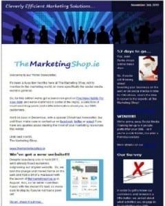 The Marketing Shop - Winter Newsletter