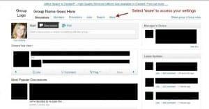How to adjust group settings on Linkedin
