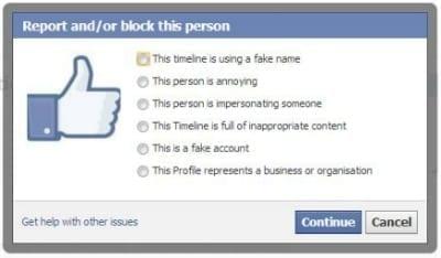 Report Facebook Profile
