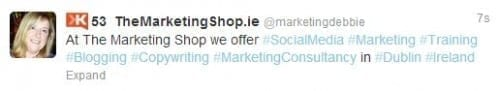 Twitter hashtags - The Marketing Shop