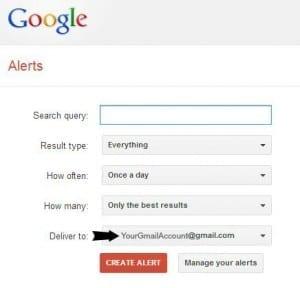 How to create a google alert