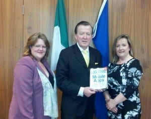 Debbie Harper of Tus Nua Designs, Minister John Perry, Debbie McDonnell of The Marketing Shop