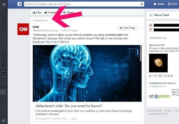 Trending now on Facebook