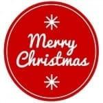 Merry Xmas Red Circle